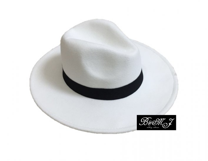 Michael Jackson Smooth Criminal White Hat - Click Image to Close