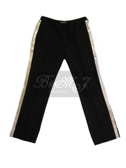 Michael Jackson Billie Jean Silver Sequin Trousers - Click Image to Close