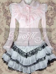 Pink Blouse And Lace Sweet Lolita Skirt