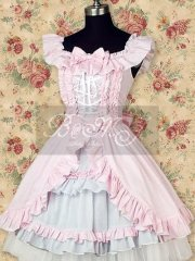 Pink Sleeveless Ruffle Sweet Lolita Dress