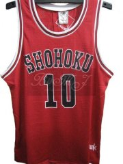 Slam Dunk Shohoku Away No. 10 Sakuragi Hanamichi Cosplay Jersey