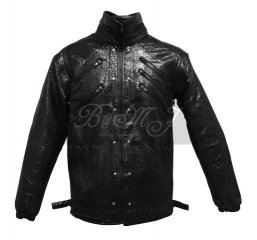 Michael Jackson Beat It Jacket in Black Snake Skin Pattern