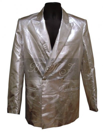 Michael Jackson This Is It Jacket in Silver - Click Image to Close