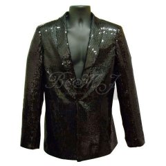 Michael Jackson Billie Jean Jacket with Sequin and Lapels
