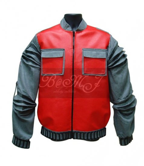 Back To The Future BTTF Marty McFly Jacket at 2015 in Red - Click Image to Close