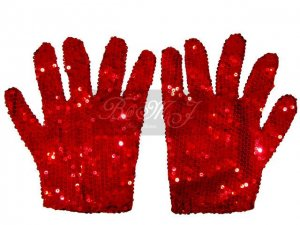 Michael Jackson Billie Jean Gloves with Red Sequin