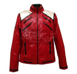 Michael Jackson Beat It Jacket in Red Snake Skin Pattern [beat_it_snake_red]