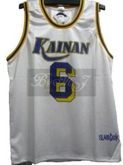 Slam Dunk Kainan Home No. 6 Jin Soichiro Cosplay Jersey
