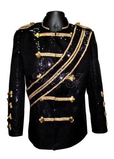 Michael Jackson Walk Of Fame Jacket Black Sequins - Click Image to Close
