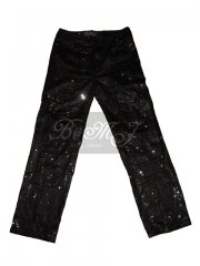 Michael Jackson This Is It DVD Extra Trousers Black Sequin