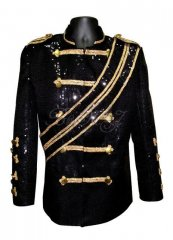 Michael Jackson Walk Of Fame Jacket Black Sequins