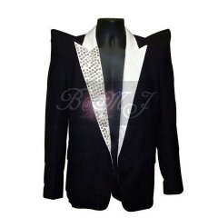 Michael Jackson This Is It Jacket in Black with Gems Lapel