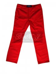 Michael Jackson Thriller Trousers in Red Cotton