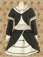 Black And White Blouse And Sweet Lolita Skirt
