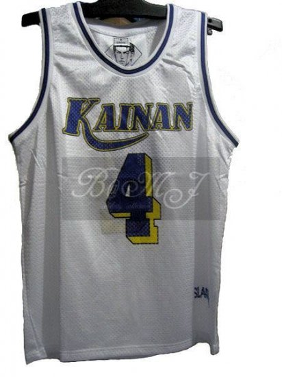 Slam Dunk Kainan Home No. 4 Maki Shinichi Cosplay Jersey - Click Image to Close