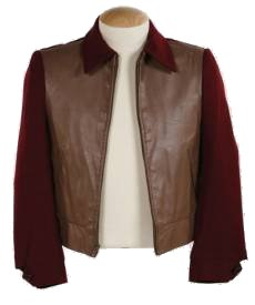 Back To The Future BTTF Marty McFly 50s Maroon Jacket in 1955 - Click Image to Close