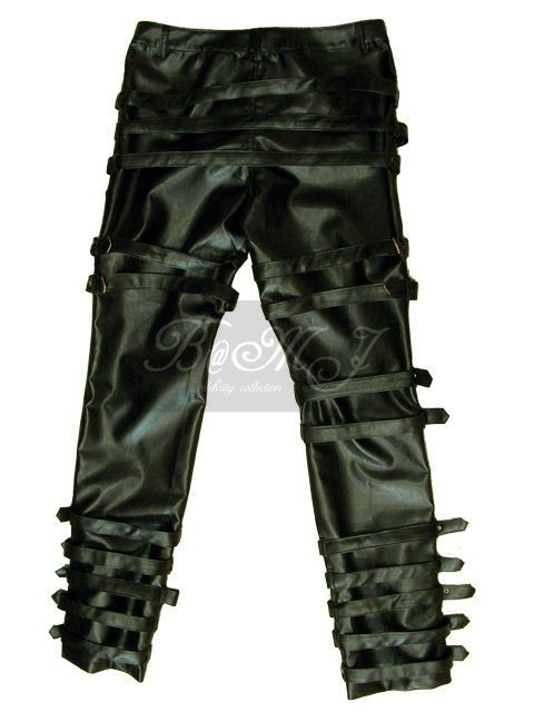 Michael Jackson Bad Tour Trousers in Black with Belts
