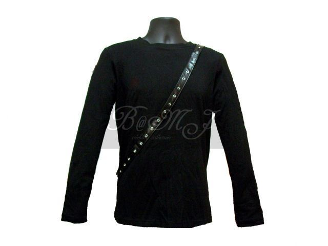 Michael Jackson Bad Tour Shirt Long Sleeve in Black