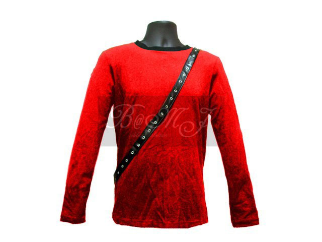 Michael Jackson Bad Tour Shirt Long Sleeve in Red