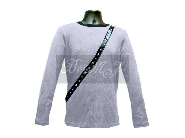 Michael Jackson Bad Tour Shirt Long Sleeve in Silver