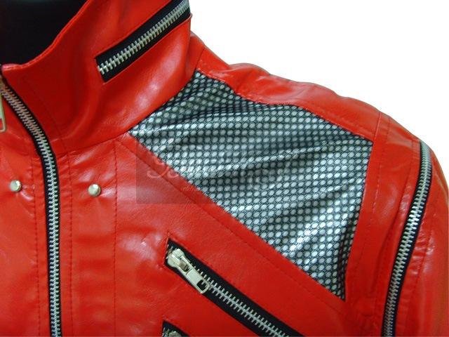 Michael Jackson Beat It Jacket in Red & Black Shoulder