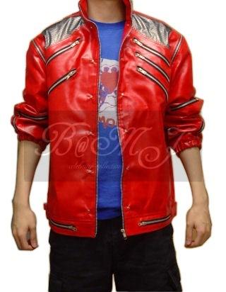 Michael Jackson Beat It Red Jacket & Black Shoulder