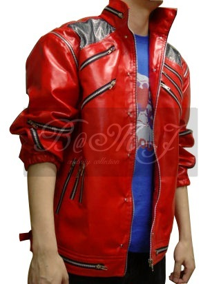 Michael Jackson Beat It Red Jacket & Black Shoulder