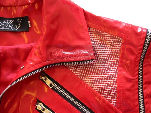 Michael Jackson Beat It Red Jacket Patent Leather
