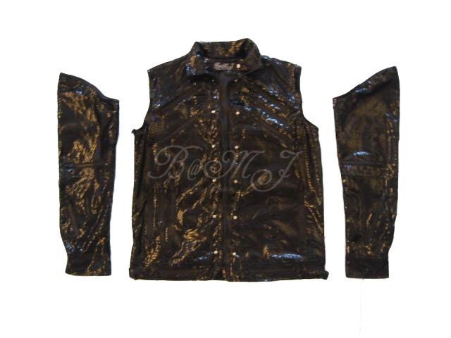 Michael Jackson Beat It Black Snake Skin Pattern Jacket