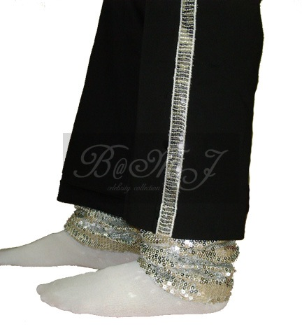 Michael Jackson Billie Jean Socks with Silver Sequin