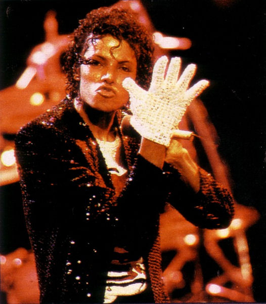 Michael Jackson Billie Jean Red Sequin Gloves