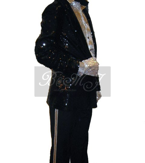 Michael Jackson Billie Jean Shirt with Silver Sequin