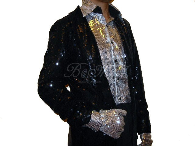 Michael Jackson Billie Jean Silver Sequin Shirt