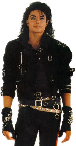 Michael Jackson Dirty Diana & Bad Gloves in Black