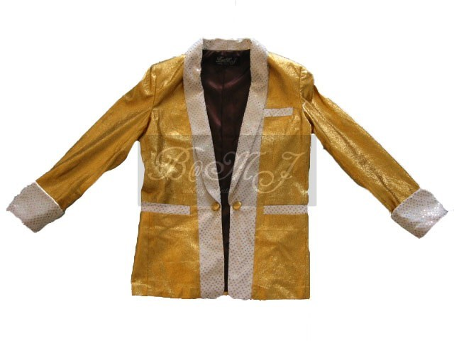 Elvis Presley Gold Lame Costume Jacket