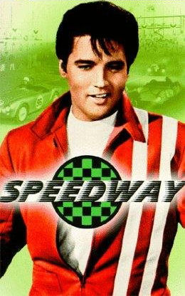 Elvis Presley Speedway Jacket in Red