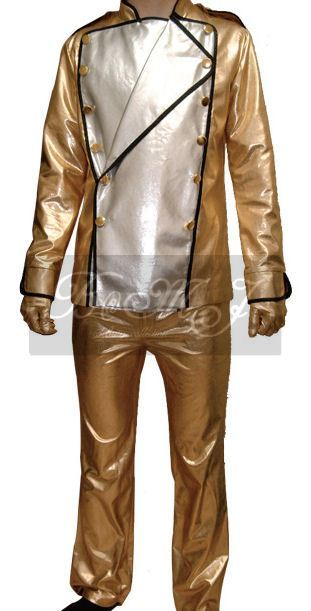 Michael Jackson HIStory Tour Gold Outfit Set