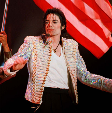 Michael Jackson HIStory Tour White Sequin Jacket