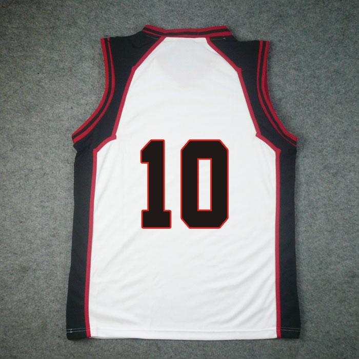 Kuroko's Basketball Seirin High Home No. 10 Taiga Kagami Jersey