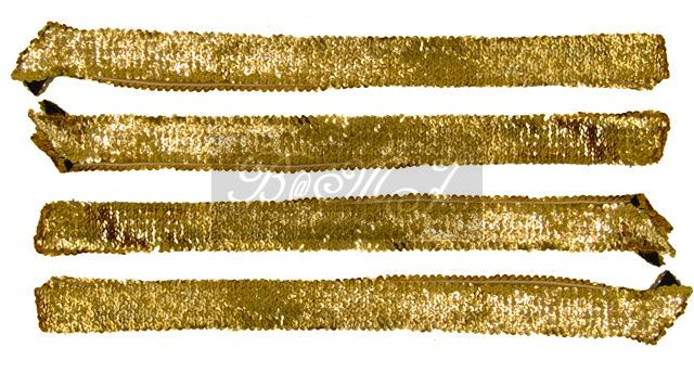 Michael Jackson Style Gold Sequin Belts Set - Click Image to Close