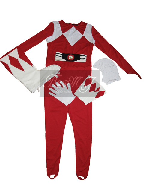 Power Rangers Red Ranger Jumpsuit Set - Click Image to Close