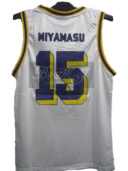Slam Dunk Kainan Home No. 15 Yoshinori Miyamasu Cosplay Jersey