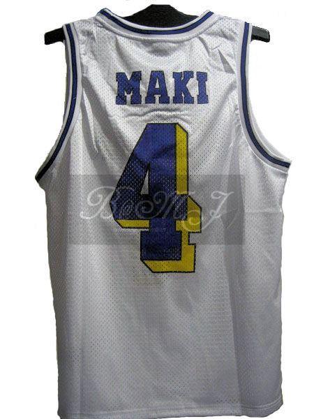 Slam Dunk Kainan Home No. 4 Maki Shinichi Cosplay Jersey