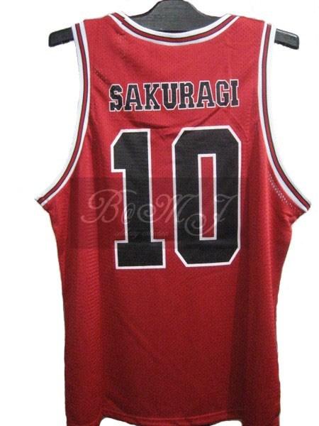 Slam Dunk Shohoku Away No. 10 Sakuragi Hanamichi Cosplay Jersey