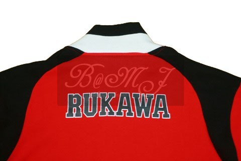 Slam Dunk Shohoku Long Sleeve Rukawa Red Cosplay Jacket