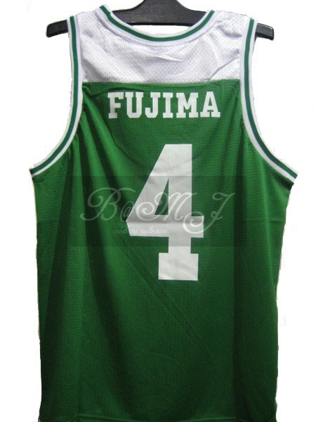 Slam Dunk Shoyo Away No. 4 Fujima Kenji Cosplay Jersey