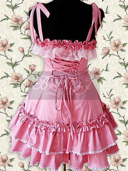 Pink Lace Ruffle Sweet Lolita Dress
