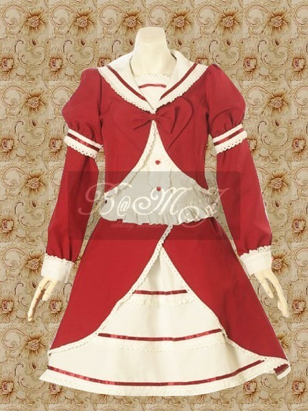 Red And White Blouse And Sweet Lolita Skirt