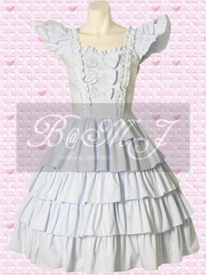 Short Sleeves Multi Tiers Sweet Lolita Dress - Click Image to Close