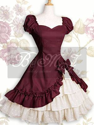 Short Sleeves Ruffle Bow Sweet Lolita Dress